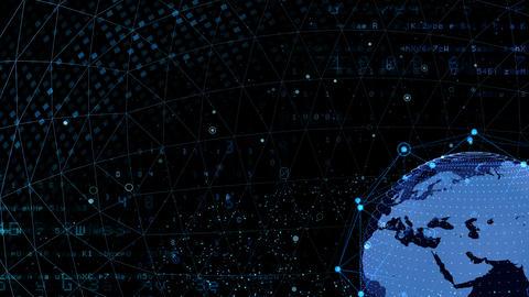 Earth on Digital Network 18 J1Bx 4k Animation