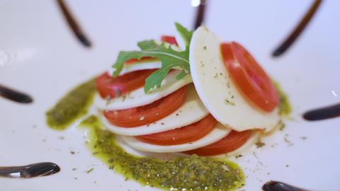 Delicius Capresa Salad Stock Video Footage