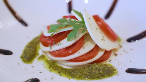 Delicius Capresa Salad Footage