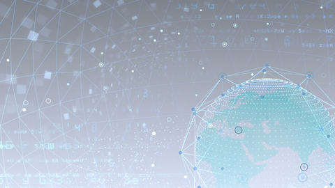 Earth on Digital Network 18 K1Wx 4k Animation