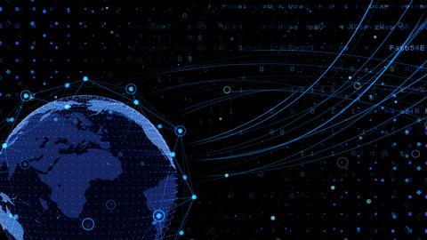 Earth on Digital Network 18 K2Bx 4k CG動画素材