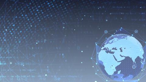 Earth on Digital Network 18 M1Gx 4k Animation