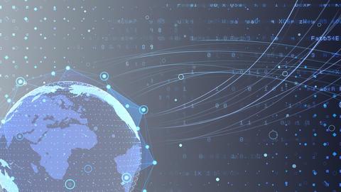 Earth on Digital Network 18 K2Gx 4k Animation