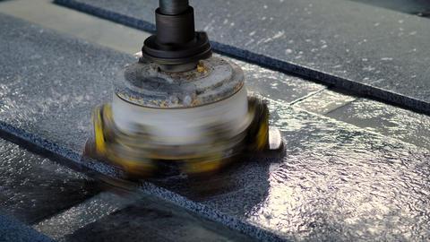 Automatic Granite Polishing Machine Live Action