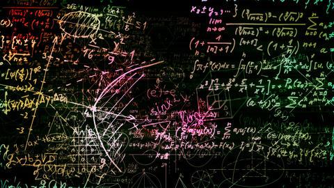 Mathematical Formulas Stock Video Footage