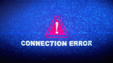 Connection Error Text Digital Noise Twitch Glitch Distortion Effect Error Live Action