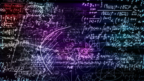 Mathematical Formulas Stock Video Footage