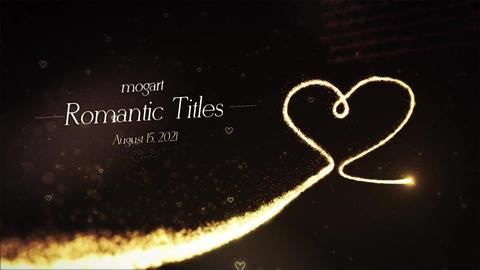Romantic Titles モーショングラフィックステンプレート