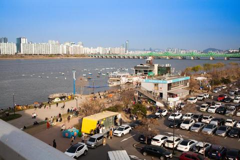 City Park, Han River, parking lot Fotografía