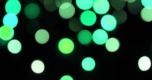 Colorful camera bokeh defocusecd at night focusing Footage