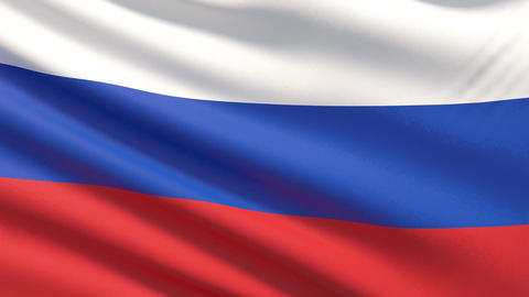 The flag of Russia. Waved highly detailed fabric texture Archivo