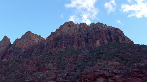 Zion Canyon National Park in the evening - travel… Stock Video Footage