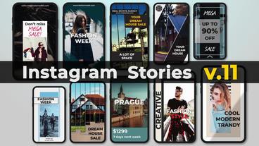 Instagram Stories v 11 Plantilla de After Effects