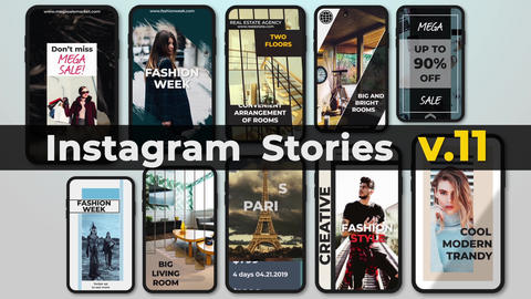 Instagram Stories v 11 After Effects Template