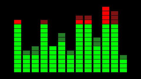 VU Meter Digital sound display Animation