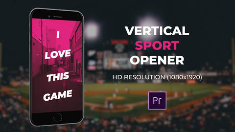 Vertical Sport Opener Premiere Proテンプレート