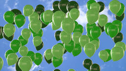 Seamless looping animation of rising green balloons Animación