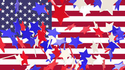 Seamless looping animation of rising red white and blue... Stock Video Footage