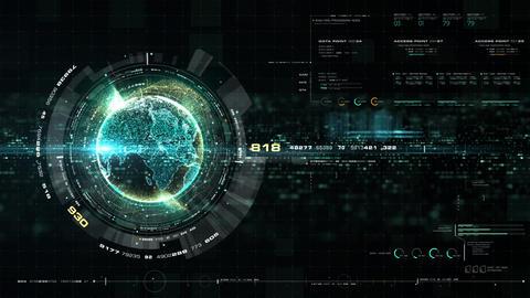 [alt video] Futuristic Holographic Earth Head Up Display
