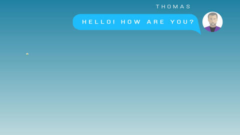 Messenger animation Motion Graphics Template