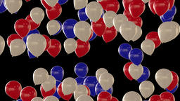 Seamless looping animation of rising red white and blue balloons Animation