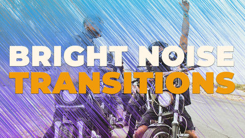 Bright Noise Transitions Premiere Pro Template