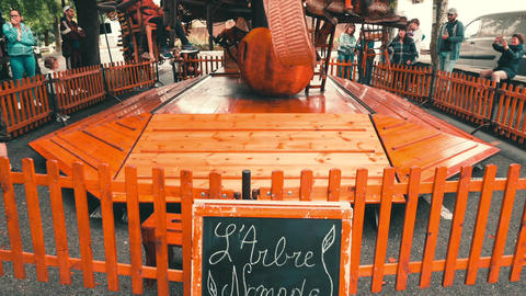 Children Carousel fete Hendaye France Live Action