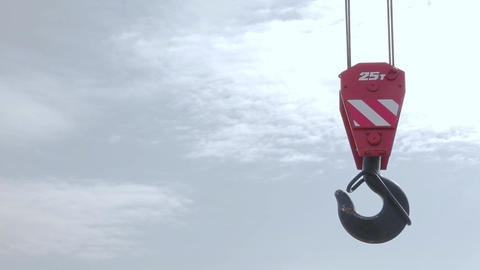 Construction crane hook 002 Live Action
