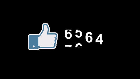 Facebook I Like It Counter Stock Video Footage