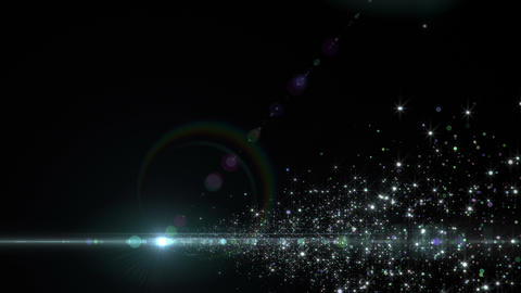 Lens Flares and Particles 16 C4 4k Animation