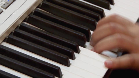 Fingers of a pianist who show their mastery at a private show 07 Footage