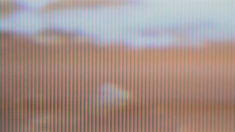 Degraded Picture On A TV That Was Damaged Due To Of Seniority 03 stock footage