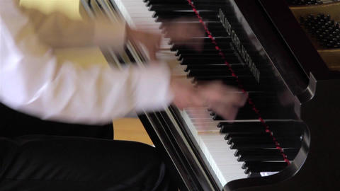 Fingers of a pianist who show their mastery at a private show 08 Footage