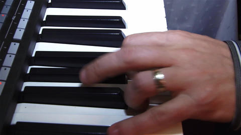 Fingers of a pianist who show their mastery at a private show 10 Footage