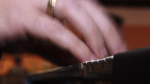 Fingers of a pianist who show their mastery at a private show 11 Footage