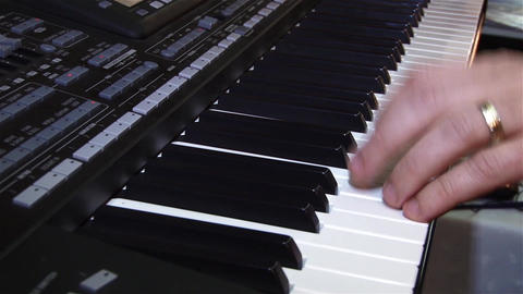 Fingers of a pianist who show their mastery at a private show 12 Footage