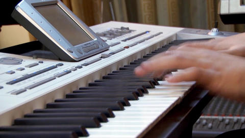 Fingers of a pianist who show their mastery at a private show 04 Footage