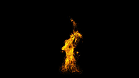 Fire generated on a computer Animation