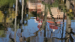 Water reflection of Monserrate Palace in Sintra Footage
