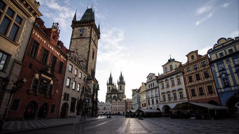 Old Town Hall in Prague. The Town Hall is Prague's business card, which is a Live Action