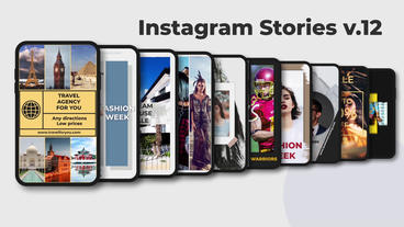 Instagram Stories v 12 After Effects Template