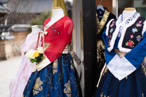 Korean traditional clothes Fotografía