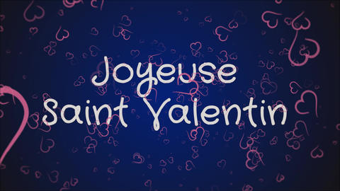Animation Joyeuse Saint Valentin, Happy Valentine's day in french language Footage