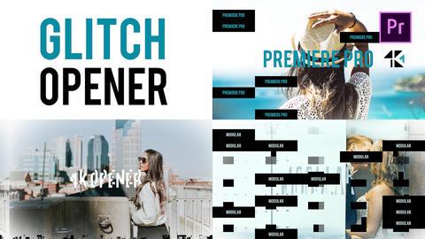 Glitch Opener 4K Premiere Pro Template