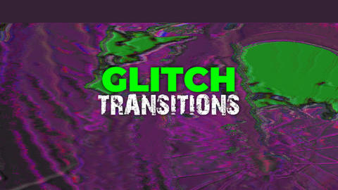 Glitch Transitions Premiere Pro Template