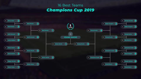 Sports Bracket After Effects Template