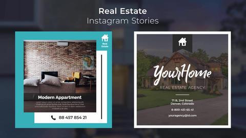 Real Estate Instagram Stories モーショングラフィックステンプレート