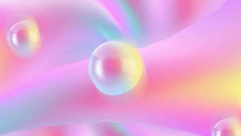 Gentle abstraction with beautiful light balls in the air, romantic or spring Footage