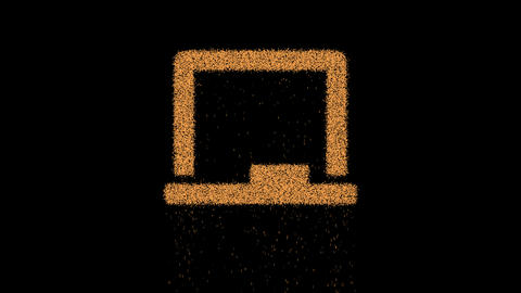 Symbol chalkboard appears from crumbling sand. Then…, Stock Animation