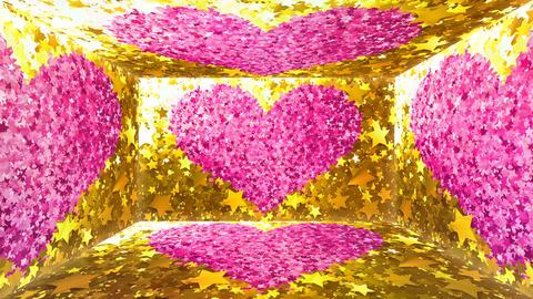 Glitter Room Gold Star 3 4k GIF